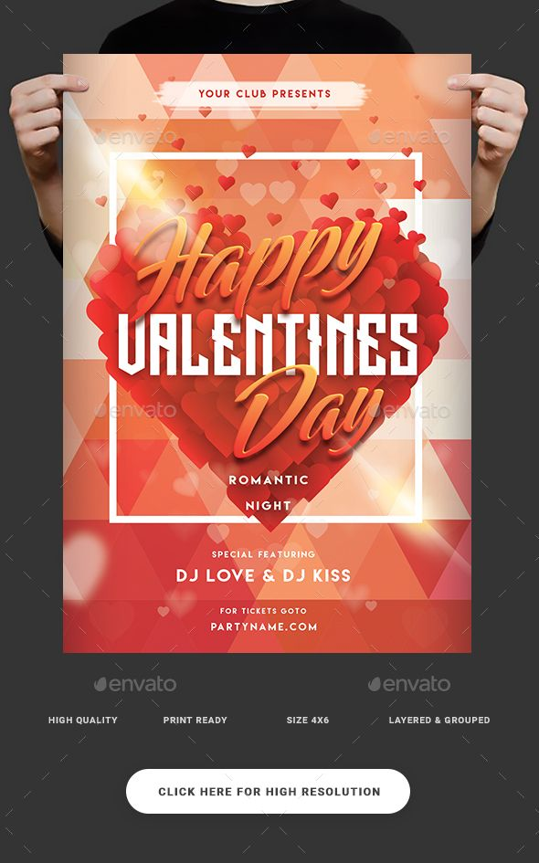 Valentine Party Flyer Template Party flyer, Flyer template and - party flyer