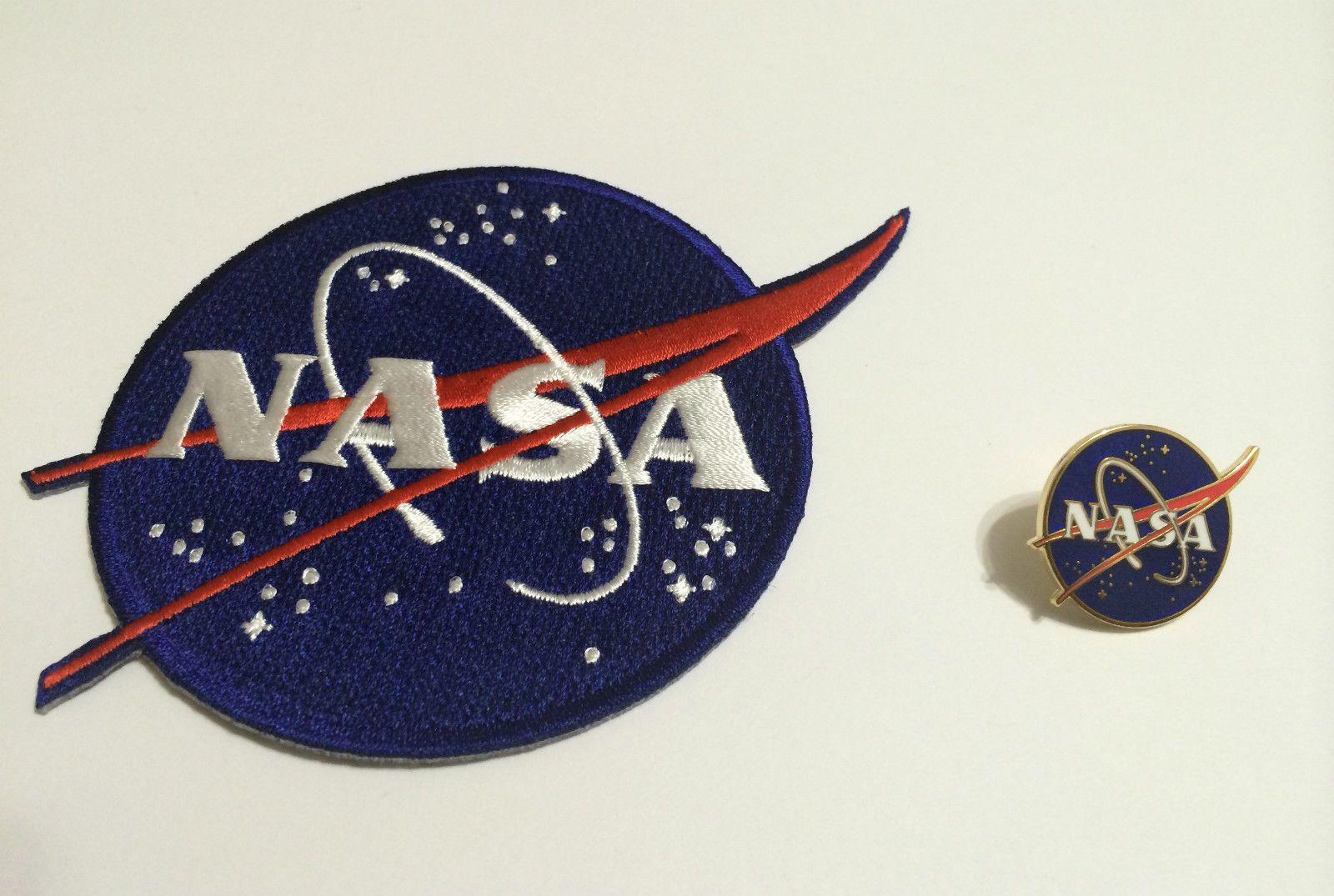 Original NASA Vector Logo Patch and Pin Set Space Program ...