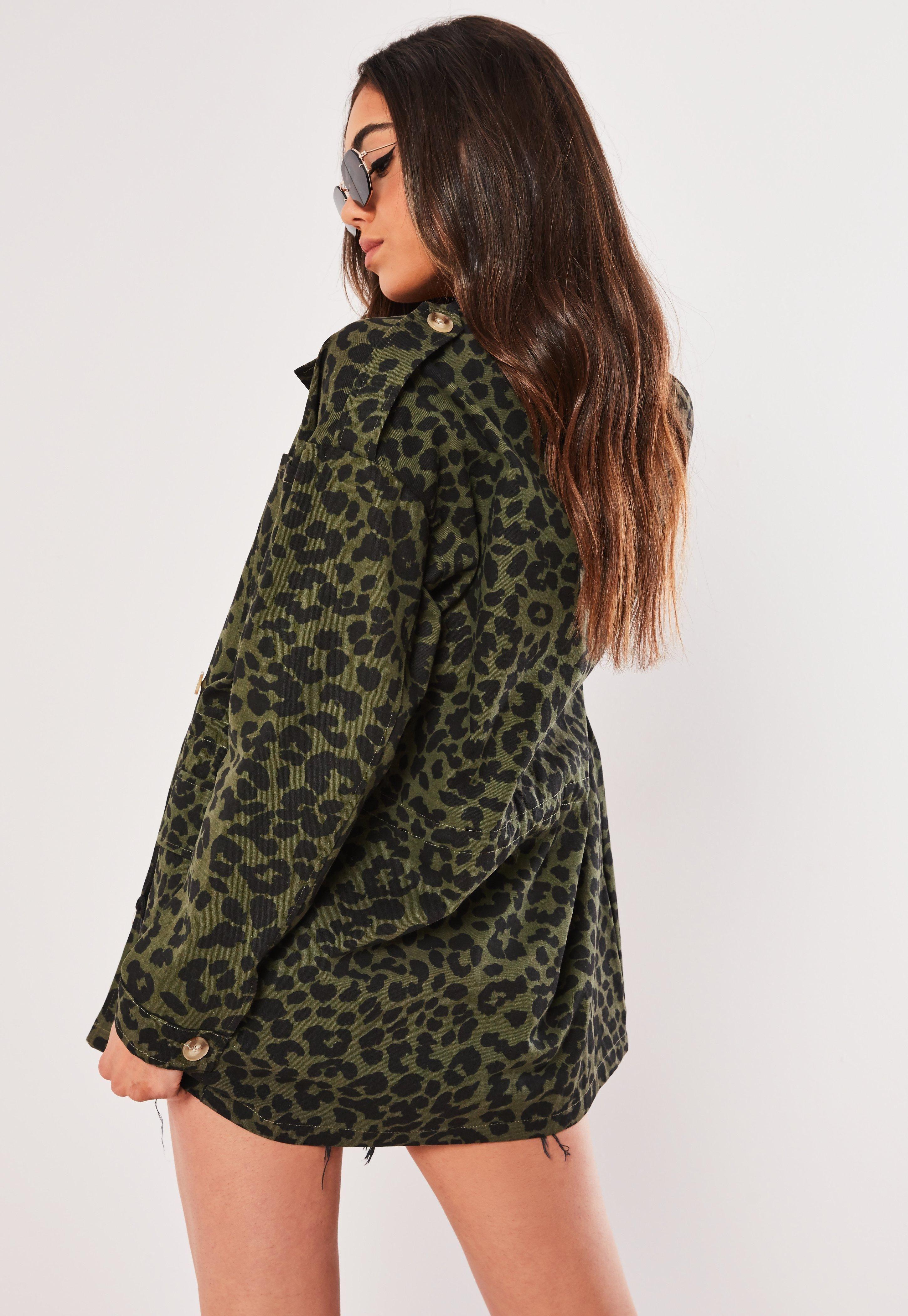 1b3cb56eb Petite Khaki Leopard Print Camo Parka Jacket  Sponsored  Leopard
