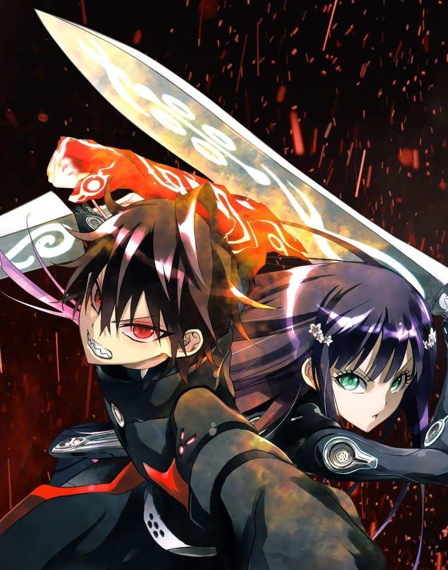 Rokuro and Benio Twin star exorcist, Exorcist anime, Anime