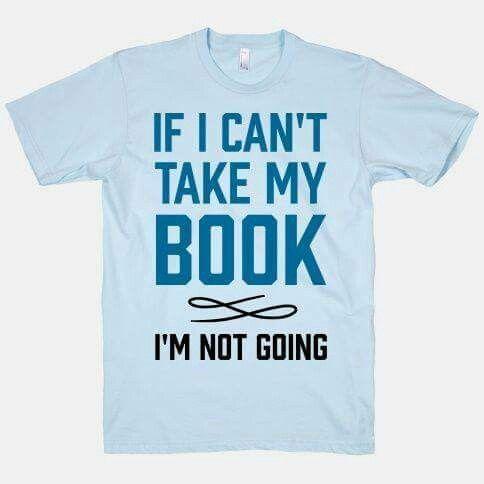 Als ik mijn boek niet mag meenemen, dan ga ik niet