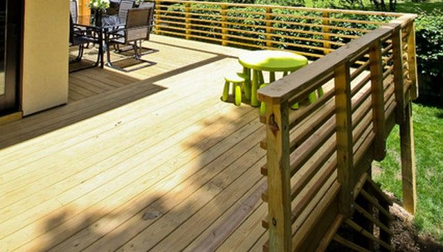 #1 -- Horizontal Wood 2x2 Handrail Design | Deck Railing ...