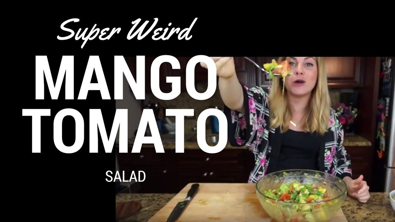Mango Tomato Salad - Summer Salad Recipe Summer recipes or spring recipes are great for using fresh local ingredients. Spring salads recipes go great with summer salad recipes because they both are healthy and delicious. This tomato salad recipe mixes the best of both worlds into a weird combination.