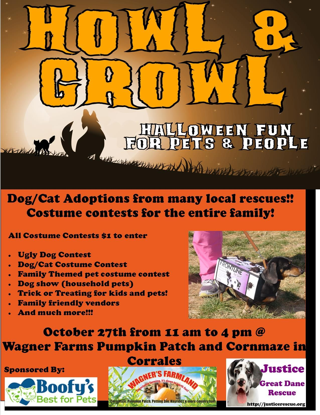 Sunday Oct 27th 11am 4pm 3rd Annual Howl Growl Join Justice Great Dane Rescue Boofy S Bes Animal Shelter Fundraiser Dog Fundraiser Animal Fundraising