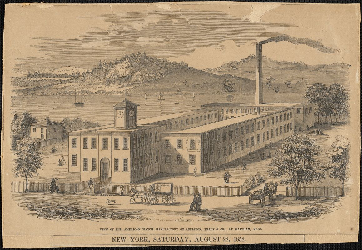 View of the American Watch Manufactory of Appleton, Tracy