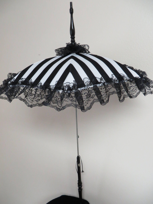 Victorian WALKING STICK PARASOL Umbrella in | Lace umbrella