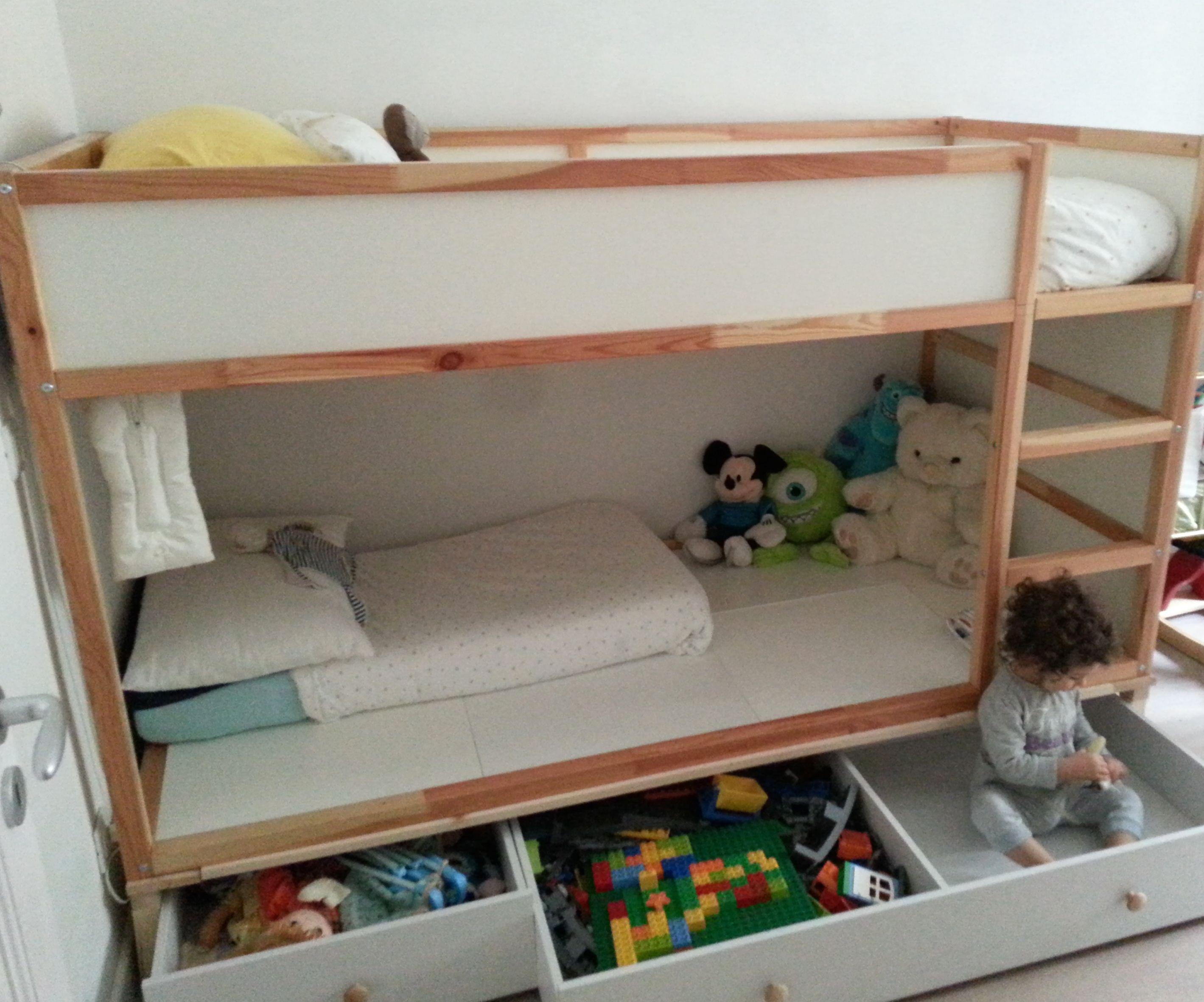 My Kura Hack Bed For Two Ikea Kura Bed Kids Shared Bedroom
