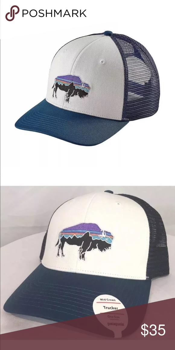 1a04388922171 Patagonia blue bison buffalo logo hat Brand new with tags Patagonia  Accessories Hats