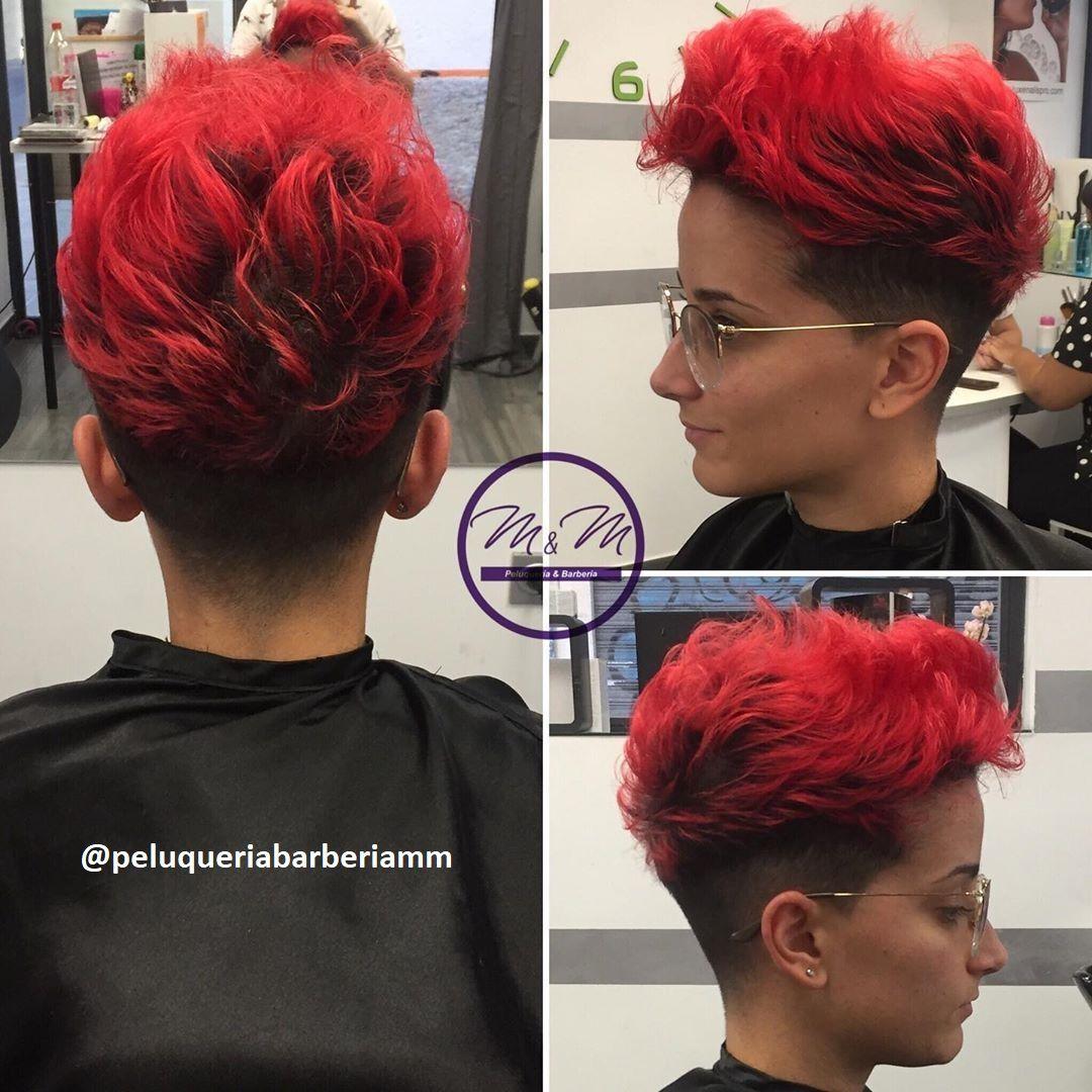 Haare rot kurze Balayage Kurze