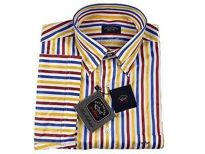 PAUL & SHARK yachting,Camicia a maniche corte a righe Colore 035,E14P1365