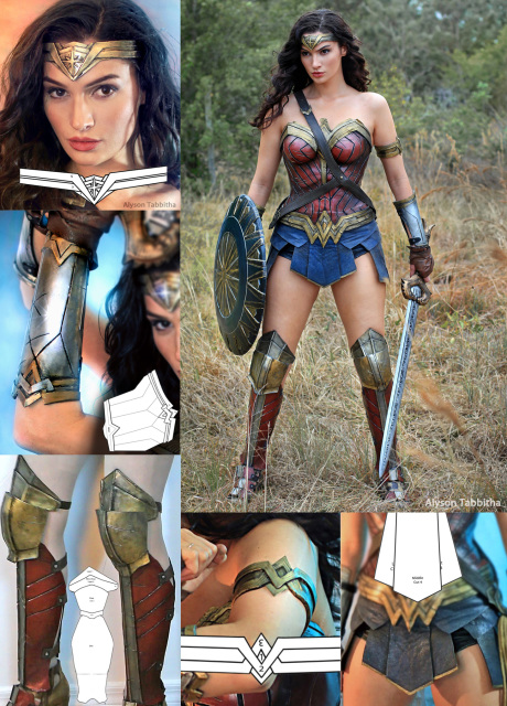 Template Patterns For Wonder Woman Headband Bracers Arm Band Skirt Boots Leg In 2020 Wonder Woman Accessories Wonder Woman Costume Wonder Woman Costume Diy