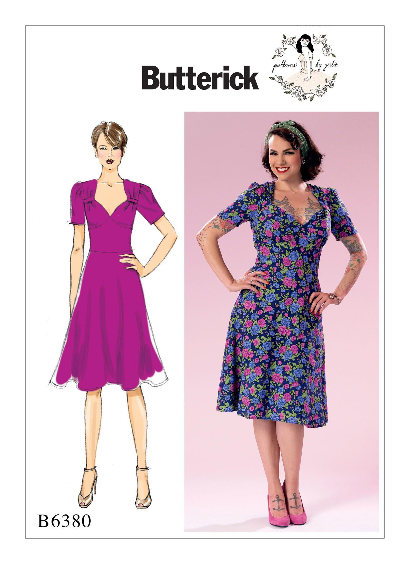 Butterick 6380 | Soph\'s dresses | Pinterest | Vestidos vintage y ...