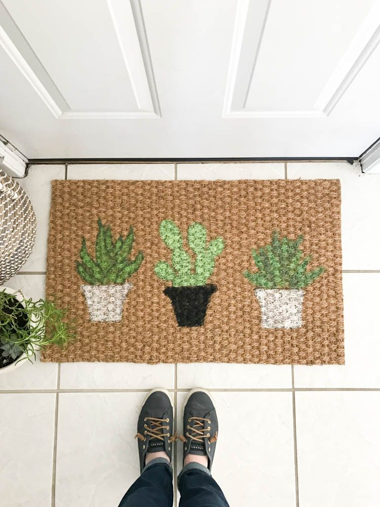 This Diy Plant Doormat Is Easy To Pull Off And Perfect For Customizing With Your Favorite Plants No Need Be An Artist It S Simple Make
