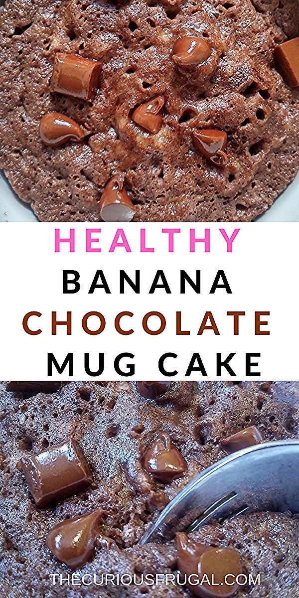 It only takes a couple minutes to make this easy chocolate mug cake recipe.  This single serving chocolate banana cake is paleo, gluten-free, full of protein, and super delicious!  Kid-approved, this mug cake is great for a quick breakfast before school, a snack at home or even a healthy dessert. #paleo #glutenfree #chocolate #mugcake  | keto mug cake | chocolate mug cake | paleo mug cake | microwave mug cake | healthy mug cake | protein mug cake #proteinmugcakes
