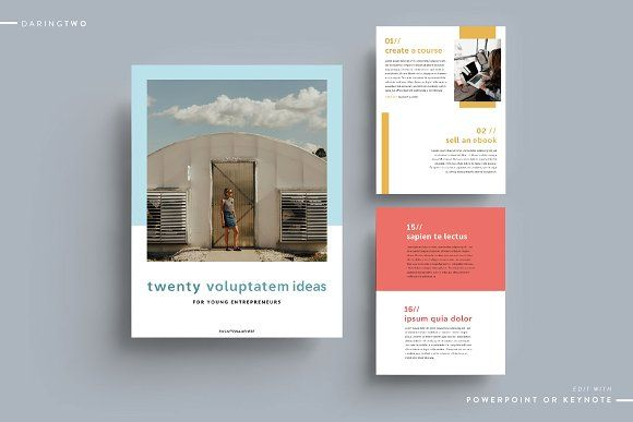 C1 Ebook Template Powerpoint Keynote | Keynote, Template and Print ...