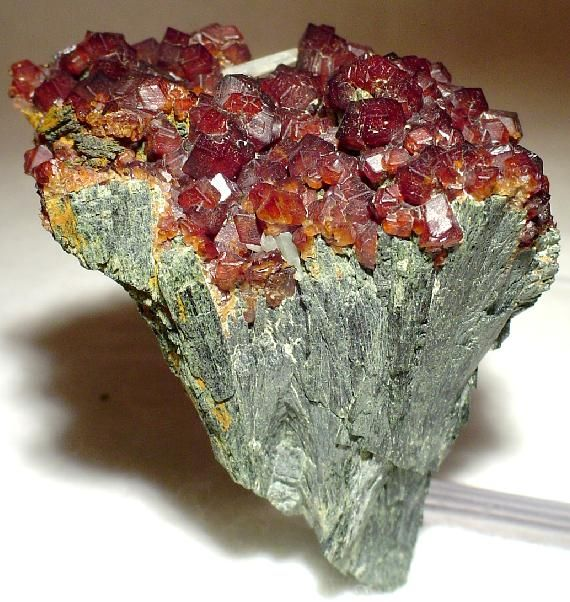 Hedenbergite with Andradite Garnet from the Cyclades