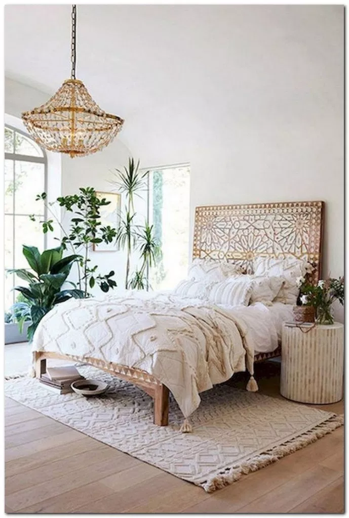 24 Creative Boho Bedroom Decor Ideas You Can DIY # ... on Modern Boho Bed Frame  id=31681