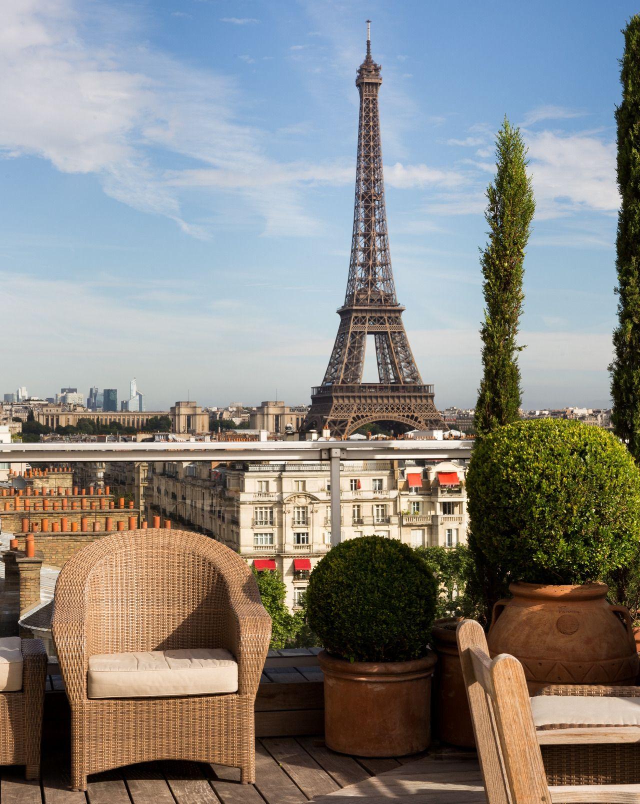 Beautiful View From The Avenue De La Motte Picquet Eiffel Tower Paris Photos
