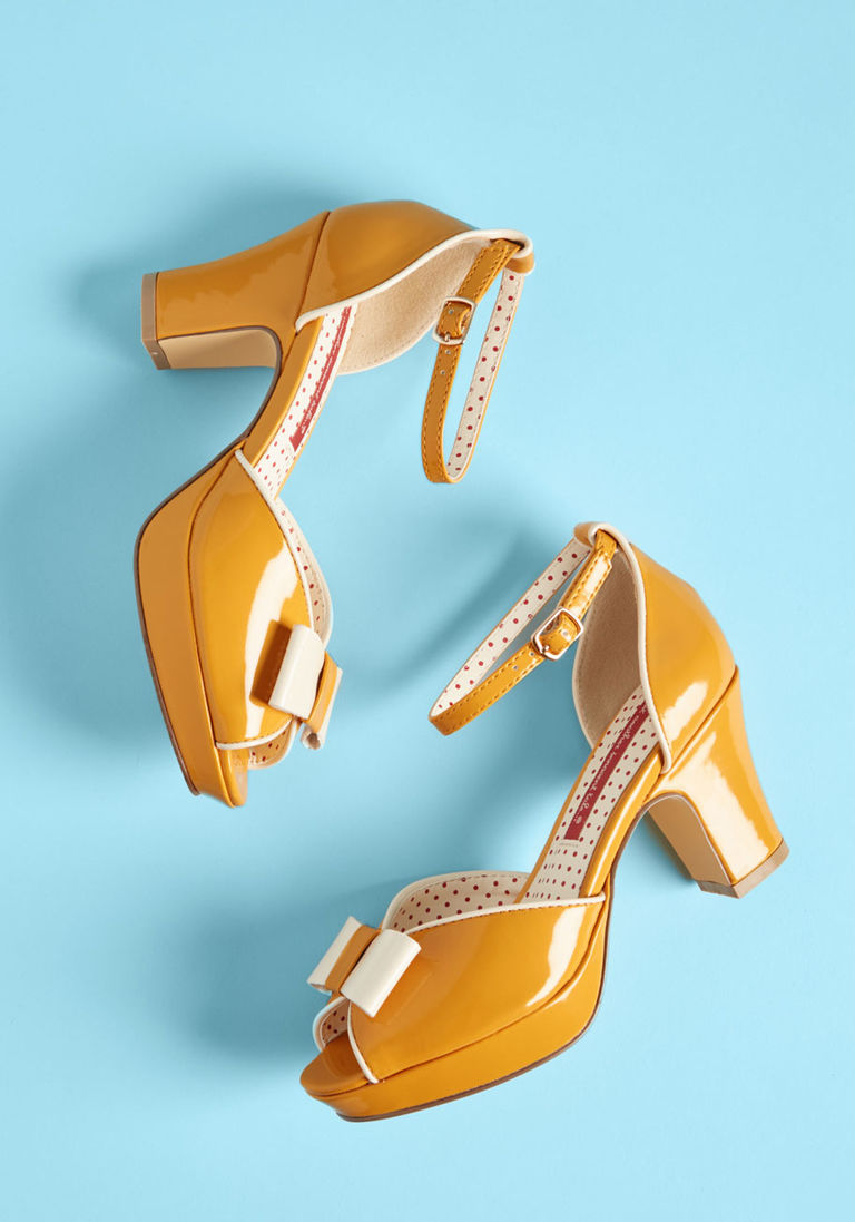 eadccea6cd8 B.A.I.T. Footwear Bowed and Boating Heel in Mustard in 6.5 by B.A.I.T. Footwear  from ModCloth