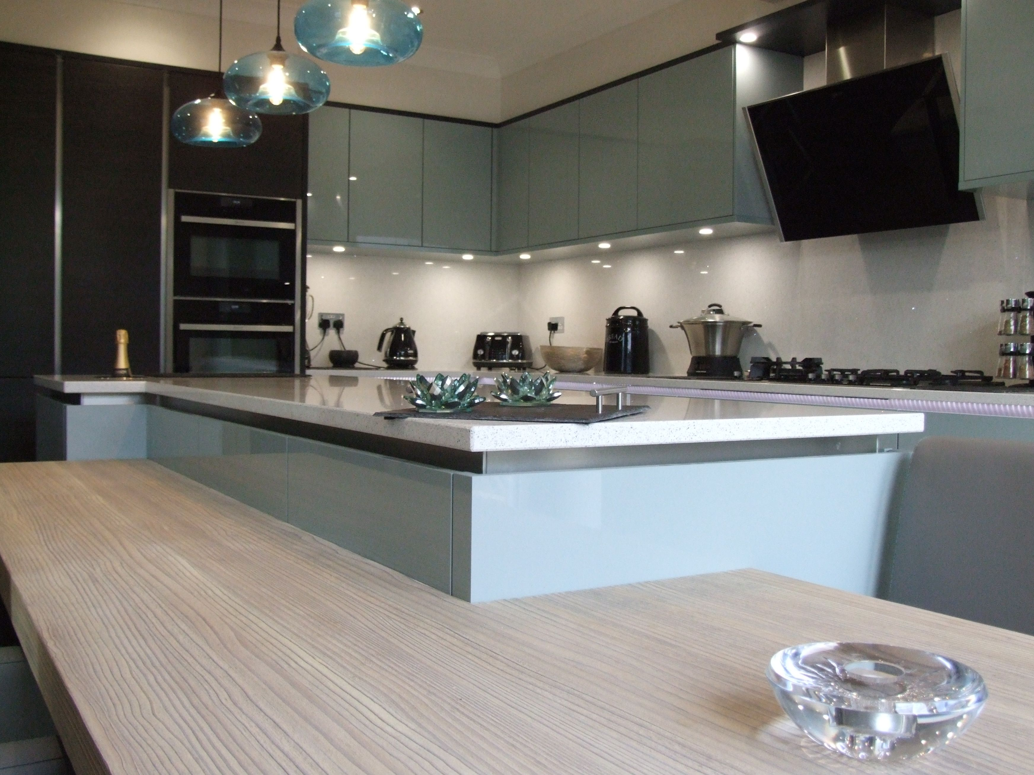 Stunning Kitchen Design And Installation With Light Blue Cabinetry Enchanting Kitchen Design And Installation Inspiration Design