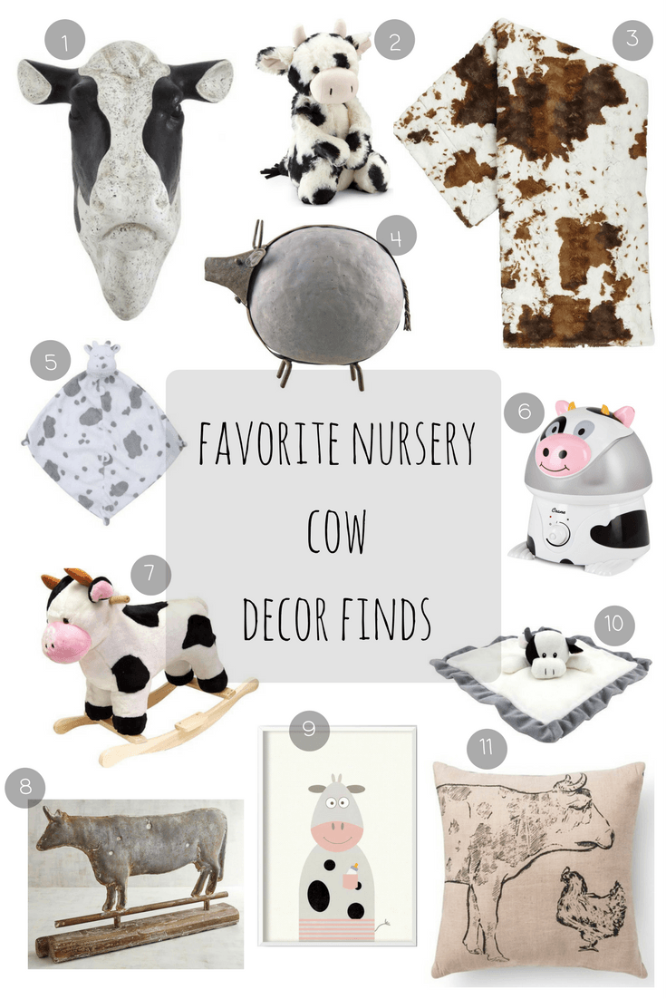 Favorite Nursery Cow Decor Finds Boy Inspiration