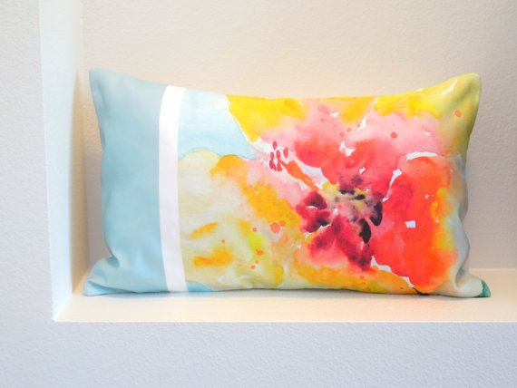 Yellow Hibiscus Tropical Lumbar Pillow Cover Fits 40x 40 Pillow Fascinating Lumbar Pillow Inserts 14 X 22