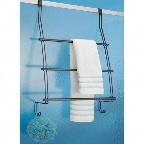 Interdesign 69111 Over The Door Towel Rack Bronze Finish Use The