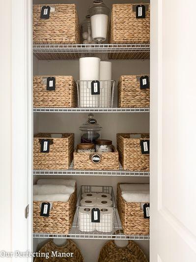 Pin By Debby Hahn On Home In 2020 Bathroom Closet Organization