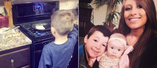 """""""Mein Sohn wird nie zu 'männlich' sein, um zu kochen und Hausarbeit zu erledigen."""""""