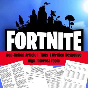 Fortnite Nonfiction Article Writing Prompt Grammar Practice