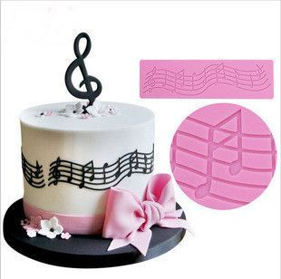 1 x Musical Notes Lace Silicone Mat Mold Size: 20 cm x 6 cm x 0.3 cm Material: Silicone Temperature: -40° ~ +230° ★ Easy to clean ★ Food Safe, FDA Approved ★ Can be used in the refrigerator, oven, dis