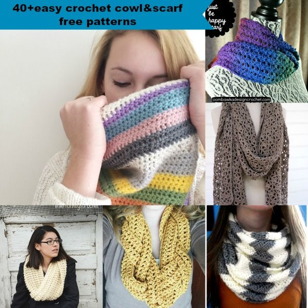 40+ free easy crochet cowl & scarf patterns   Proyectos que intentar ...