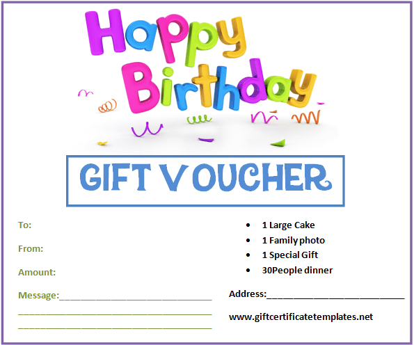 Birthday Gift Coupon Template Unique Birthday Gift Certificate Templateswww .