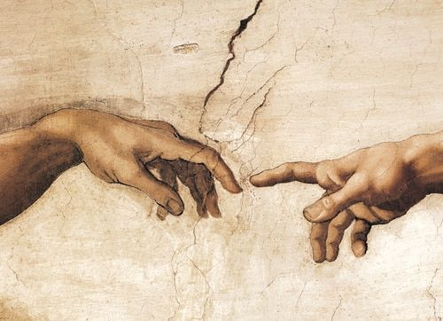 Eurographics' Michelangelo: Creation of Adam jigsaw puzzle focuses on the hand of God reaching towar...