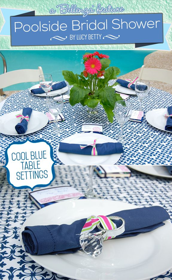A Poolside Bridal Shower By Lucy Betty In Chic Blue Lime Green