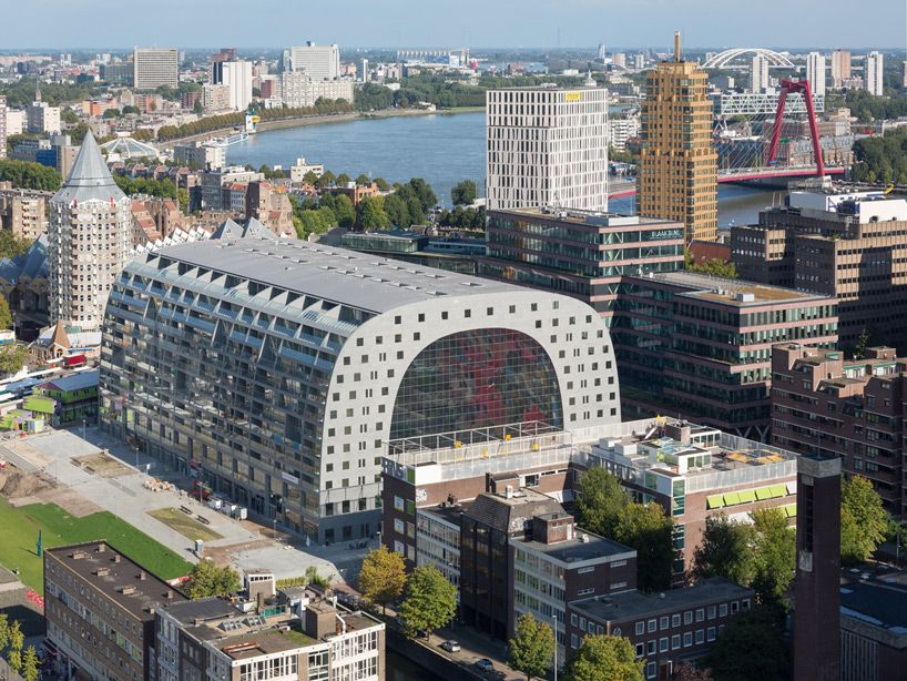 Mvrdv Designed Markthal Housing Market Hall Opens In Rotterdam