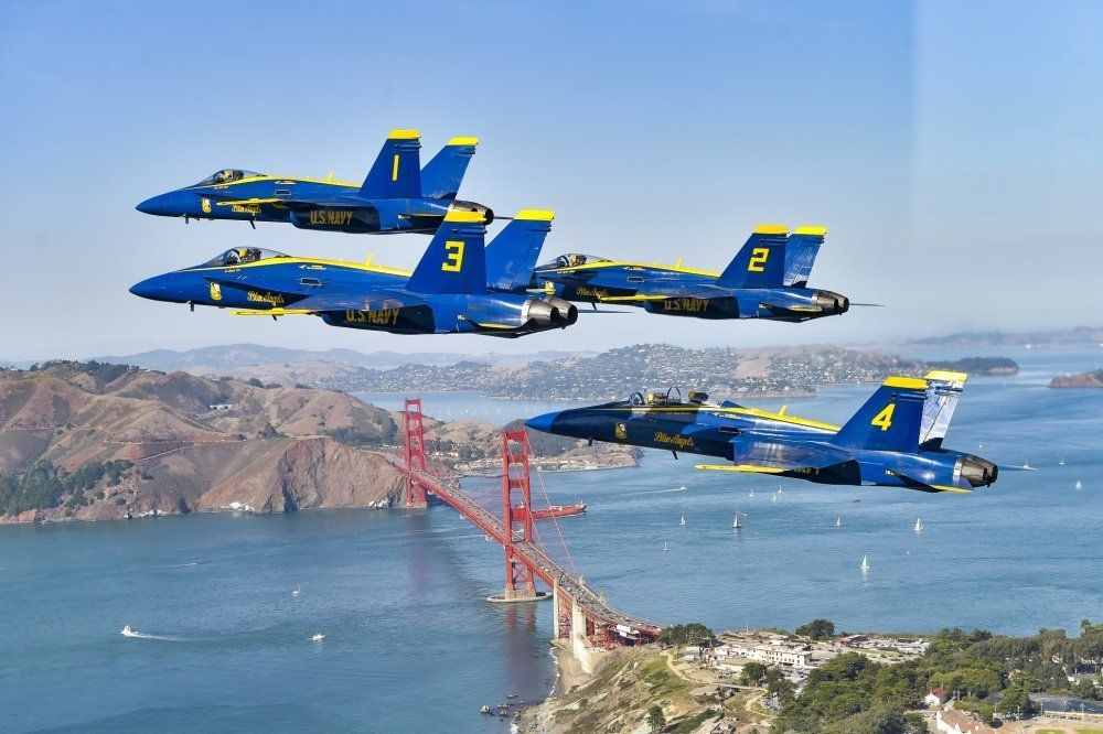 The Blues over the Golden Gate Bridge in 2020 Us navy