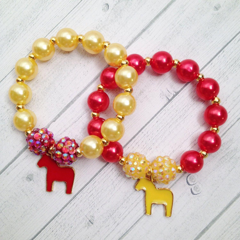 8 equestrian charm bracelet equestrian birthday or slumber party