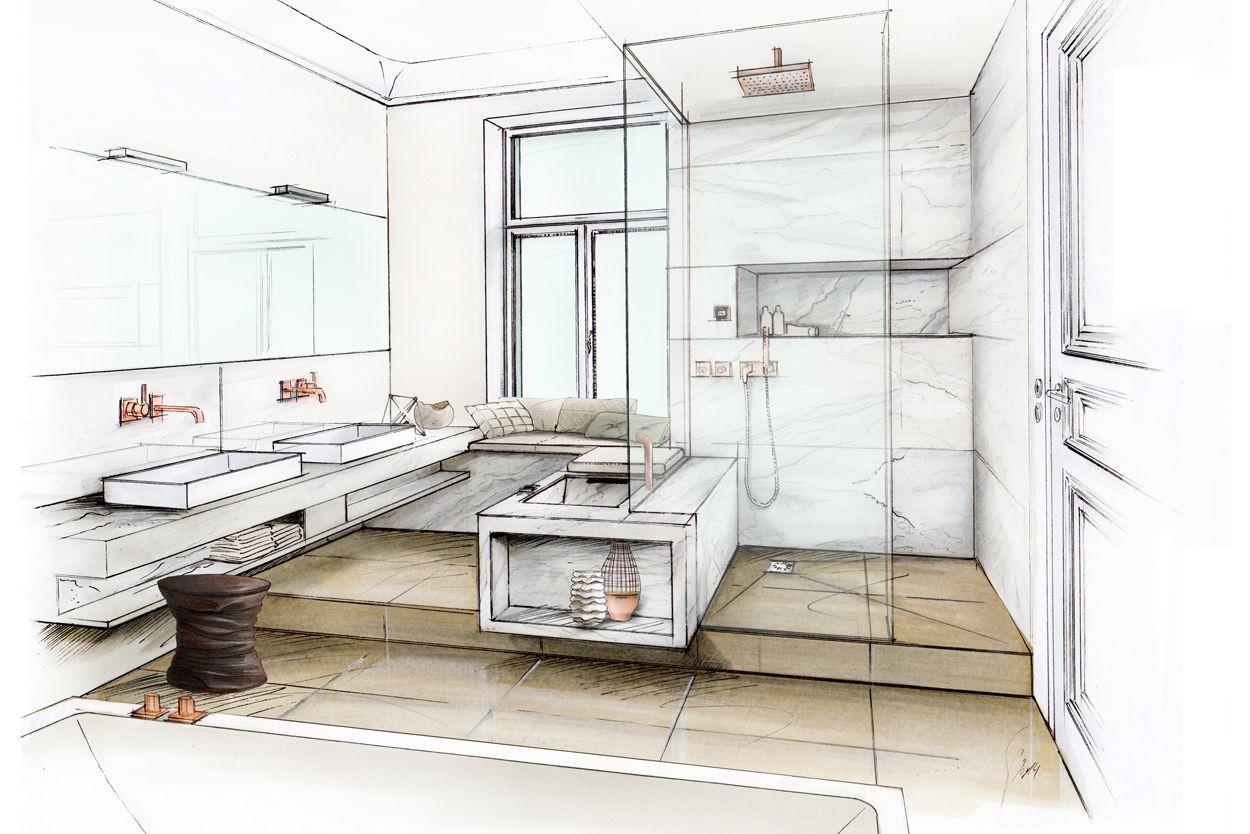 Wedi Bathroom Interior Interior Design Renderings Architecture