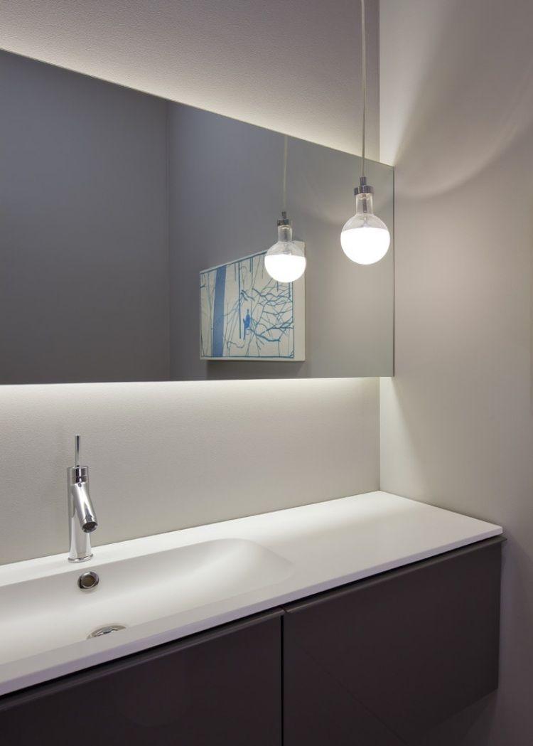Miroir Eclairant Salle De Bain idées d' éclairage indirect mural dans les intérieurs