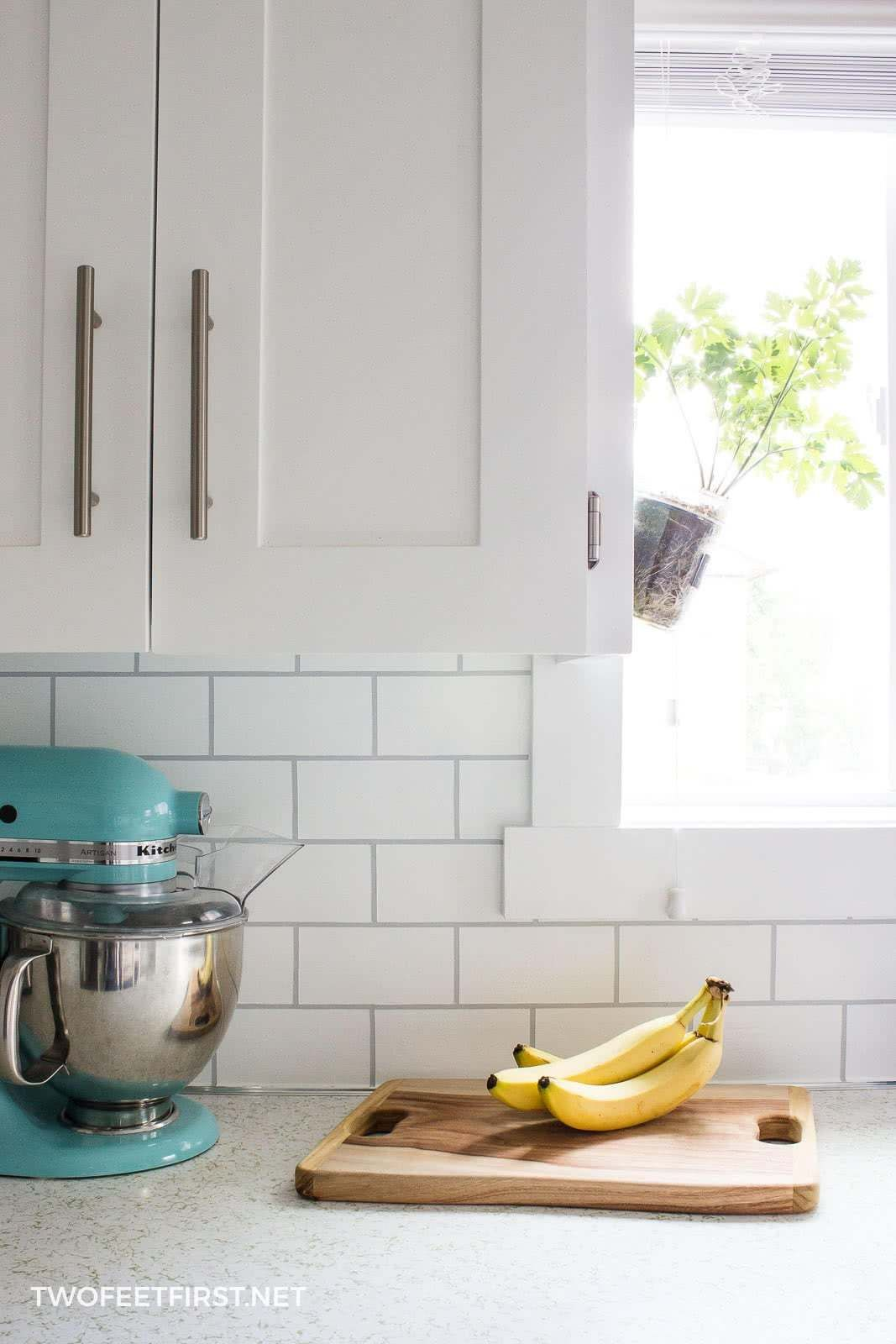 How To Paint A Backsplash To Look Like Tile Kitchen Sink Diy