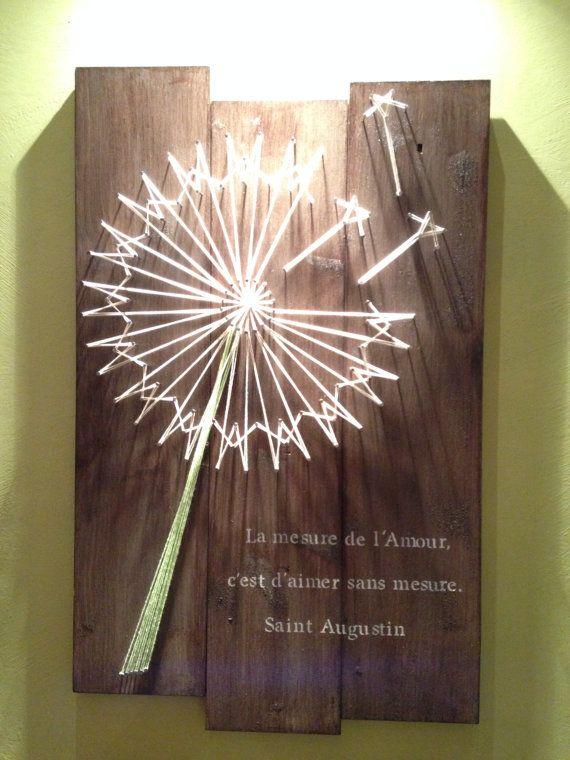 Dandelion String Art | home | String art patterns, String ...