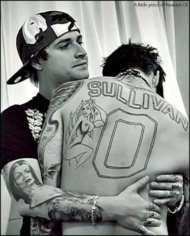 Avanged Sevenfold. no matter how much jimmy messed with him, johnny still loved him! :)