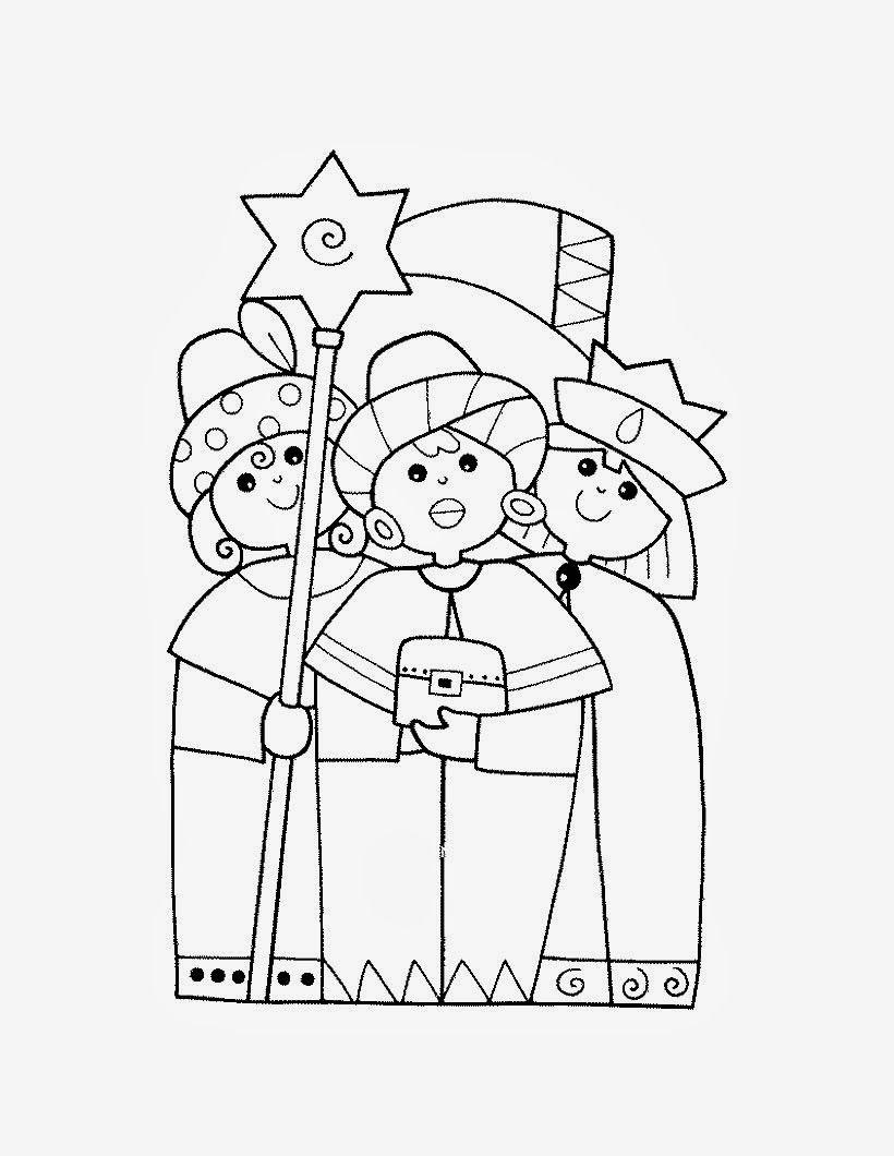 Maestra De Infantil Reyes Magos Para Colorear Driekoningen Kerstmis Kinderen Kerk