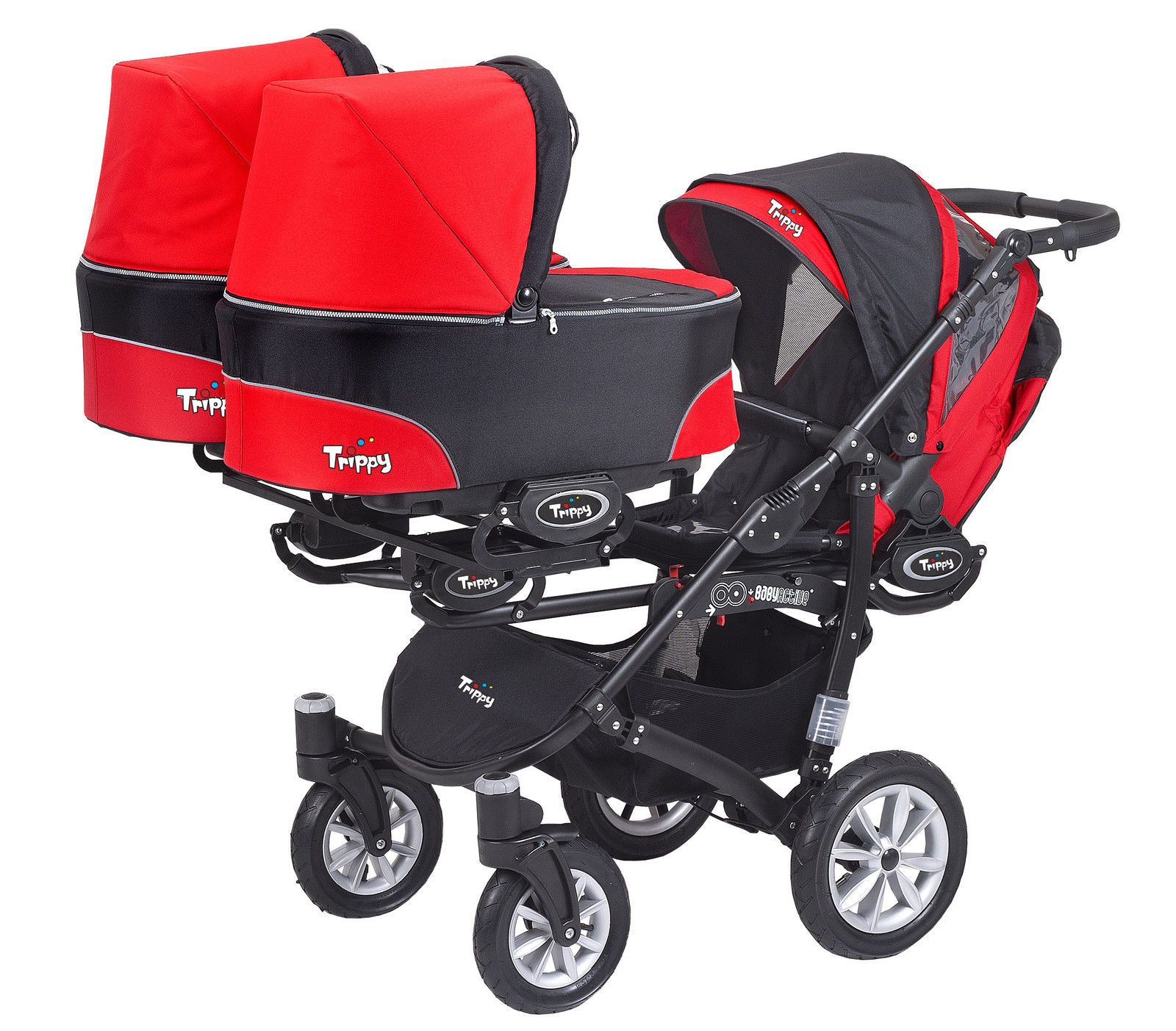 Maxi-cosi Adorra Travel System - Graphic Flower Triple Pushchair Bonanza Rainbows And Buttons Triple