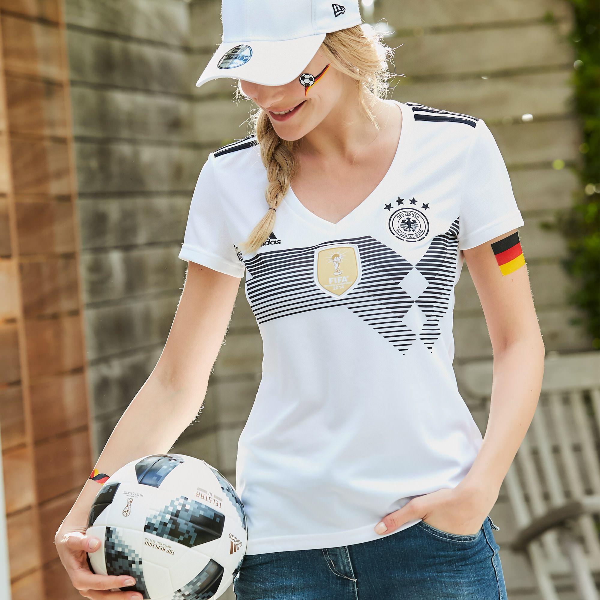 Adidas Performance Trikot 2018 Dfb Heimtrikot Damen Ob Public Viewing In Der Stadt Oder Gartenparty Hie Trikot Deutschland Trikot Fussball Weltmeisterschaft