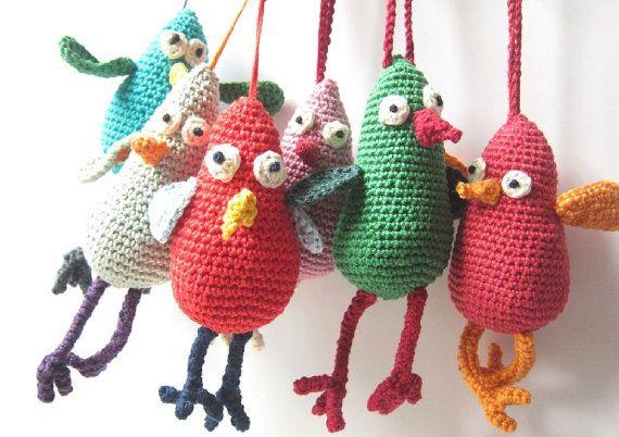 Amigurumi Bird Tutorial : Bird crochet pattern tutorial pdf by loopysheep on etsy
