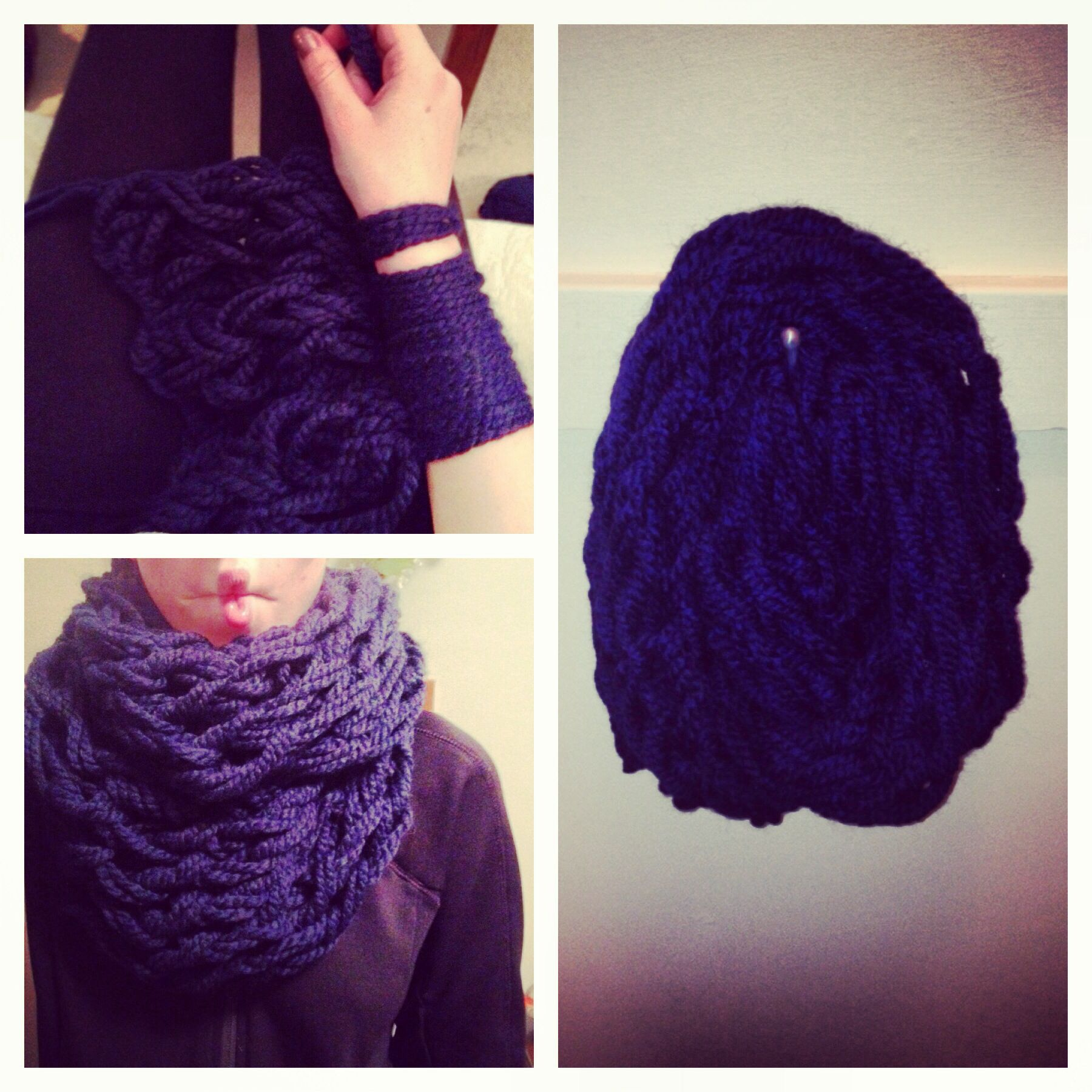 My very own arm knitted scarf! Fun DIY