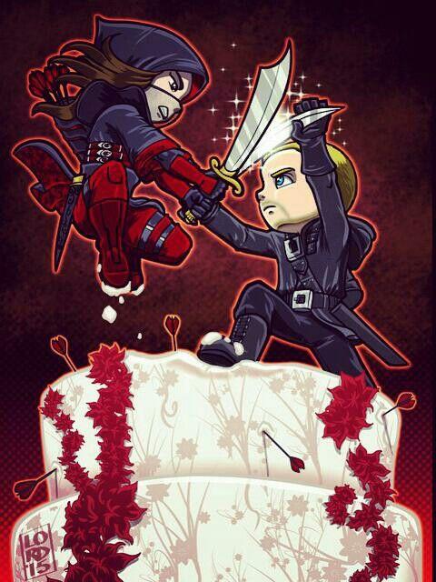 Lord Mesa-art Oliver and Nyssa Arrow 3x22