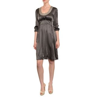 ea3fbe7aae Cynthia Rowley Women s Enchanting 3 4-length Sleeve Silk Cocktail Dress